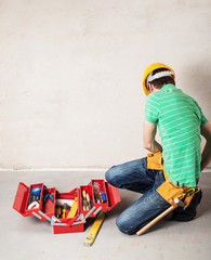 construction worker with toobox