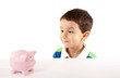 Small Boy With Piggy Bank