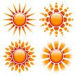 4 Orange/Red Suns