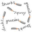 dziękuję w różnych językach nieskończony deseń