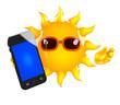 Sunshine has a smartphone