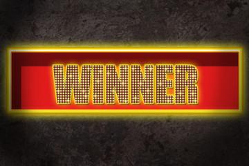 Leuchtreklame Winner