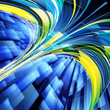 Abstract techno lines background.