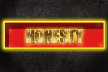 Leuchtreklame Honesty