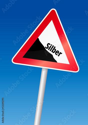 Fallender Silberkurs
