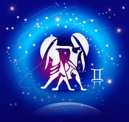 Zodiac Background: The Gemini