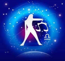 Zodiac Background: The Libra