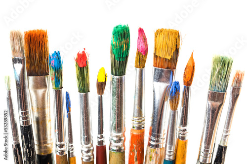 Paints and brushes - 53289852