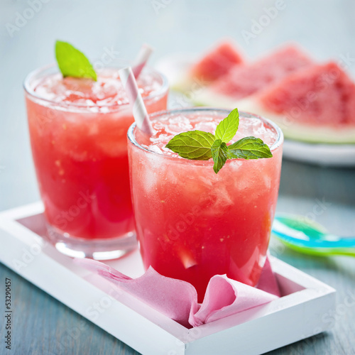 canvas print picture wassermelonen-softdrink