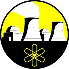 Nuclear power plan vector