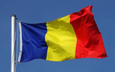 Flag of Romania in the sun