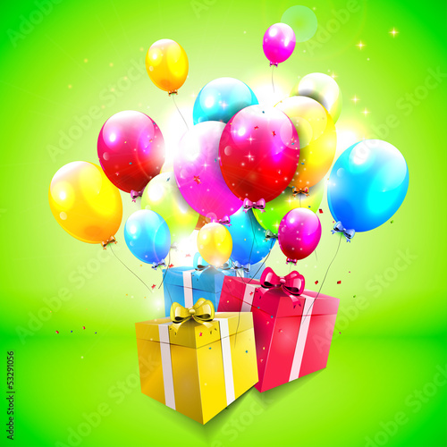 Colorful modern birthday background