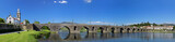 Panoramic view of the old romanic bridge of Ponte de Lima