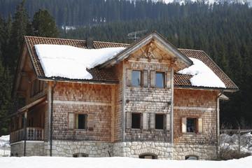 Casa costruita con criteri di bio-edilizia