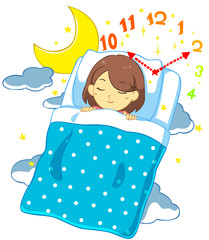 睡眠と時間(背景無し)