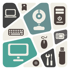 Computer devices theme abstract background