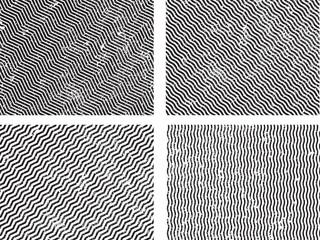 Grunge set stripe. Vector illustration.