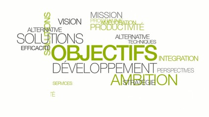 Objectifs développement ambition nuage de mots animation