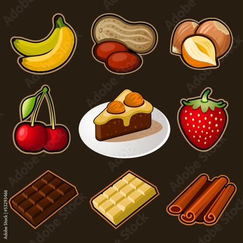 Chocolate icons set