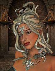 Medusa im Thronraum