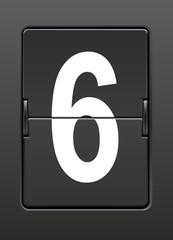Analog panoda altı  rakamı