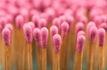Close-up of a red matches