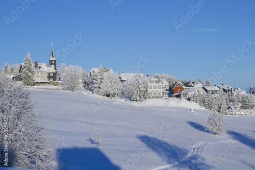 Leinwandbild Motiv Masserberg im Winter