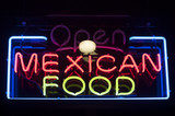 mexican food neon sign