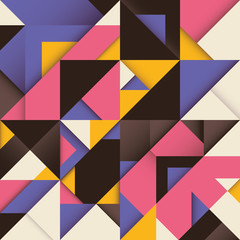 Abstract composition with triangles.