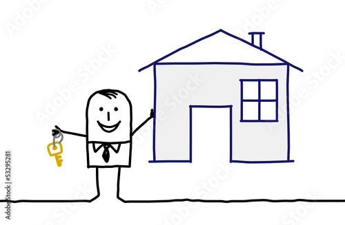 businessman & house
