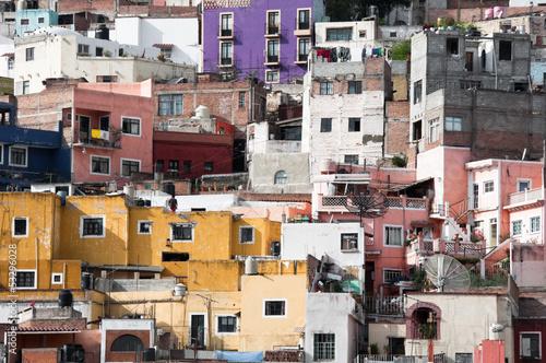 Leinwandbild Motiv Historical town of Guanajuato (Mexico)