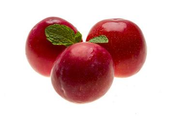 Bright ripe plum with mint