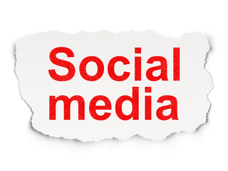 Social media concept: Social Media on Paper background