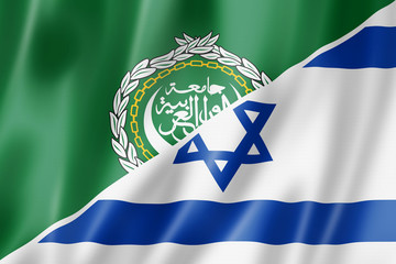 Arab League and Israel flag