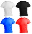 male shirt template, black white, red blue, front design
