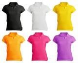 Fototapety women's polo shirt template in colors