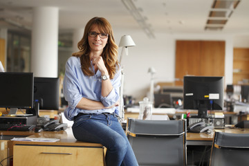 Portrait of a smiling professional mature businesswoman