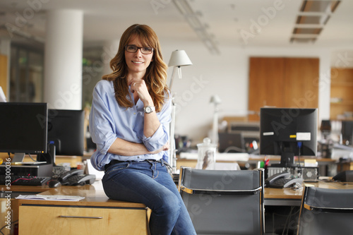 Portrait of a smiling professional mature businesswoman