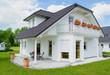 Neubauhaus mit Terasse