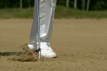 Golf Ultra Slow Motion Bunker Shot 10000 fps