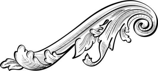 Acanthuse scrolling leaf