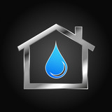 House Logo, water