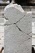 Ancient script on marble tablet in Sagalassos in Isparta, Turkey