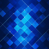 Blue Abstract Square Dot Tech Background