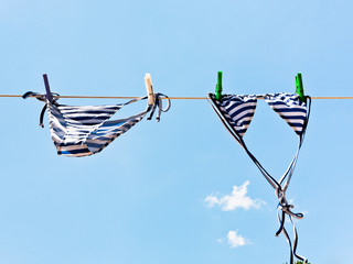 bikini suit drying in wind