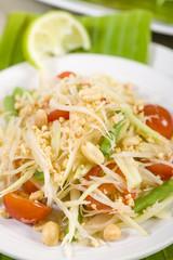 Som Tam - Green Papaya Salad. Thai & Lao Cuisine