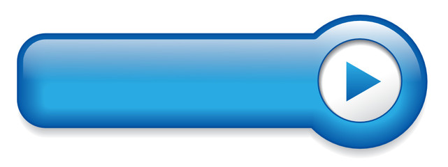 Blue Web Button (rectangular blank template vector click here)