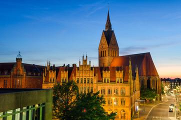 Marktkirche und Altes Rathaus in Hannover, Deutschland