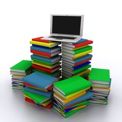 Books with personal computer