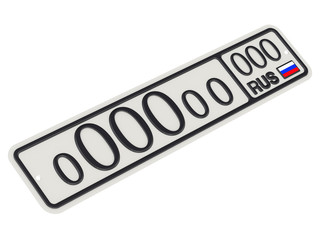 Элитный автомобильный номерной знак